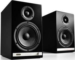 Audioengine HD6 Wireless Powered Bookshelf Speakers, Bluetooth with Analog Amplifier