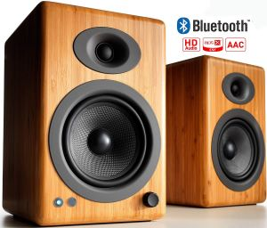 Audioengine Wireless Powered Bookshelf Speakers Bluetooth